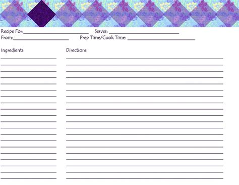 blank recipe cards for printer a heart hidden in the lord meal planning week 5 free