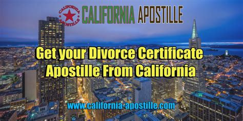 Divorce Records Los Angeles California Get Your Divorce Certificate Apostille From California Sos