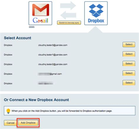 dropbox gmail login how to sync gmail and dropbox cloudhq support