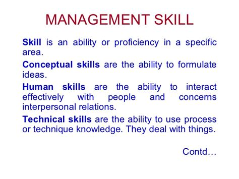 management skill