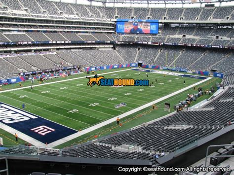 section 245a metlife stadium section 245a mezzanine endzone seating