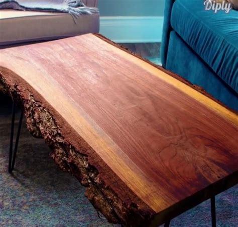 Meja Tamu Dari Kayu punya selembar batang kayu olah jadi meja di ruang tamu yuk okezone lifestyle