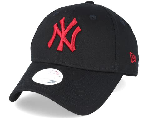 new york yankees l new york yankees mlb fashion black red 9forty adjustable