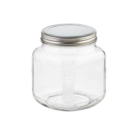 glass jars  lids anchor hocking glass cracker jars