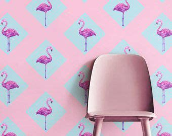 flamingo removable wallpaper cute flamingo removable peel and stick wallpaper by