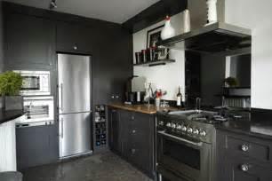 cuisine 233 quip 233 e noir et gris