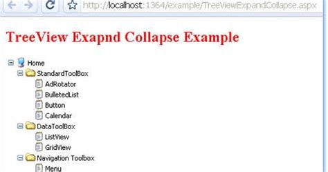 html expand collapse section expand and collapse treenode programmatically in asp net