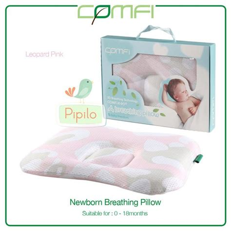 Bean Pillow Oluss Pillow Bantal Anti Peyang Bayi jual beli comfi newborn breathing pillow pink leophard