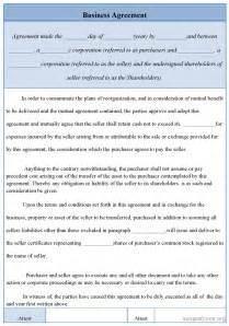 Free Business Contracts Templates Business Agreement Template Non Compete Agreement