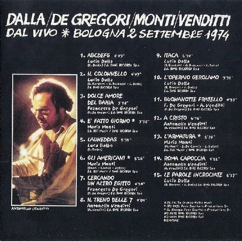 the best of de gregori verso la stratosfera dalla de gregori monti venditti