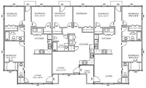 triplex plans tri plex floor plans house design