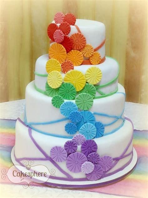 Discworld Wedding Cake Anyone by Rainbow Wedding Cakes Anyone Sugar Weddings