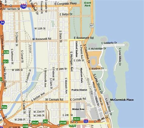 chicago map of the loop michigan ave chicago map benbie