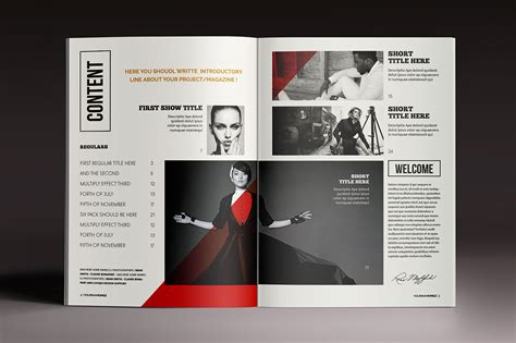 adobe indesign magazine templates free magazine brochure indesign templates on behance