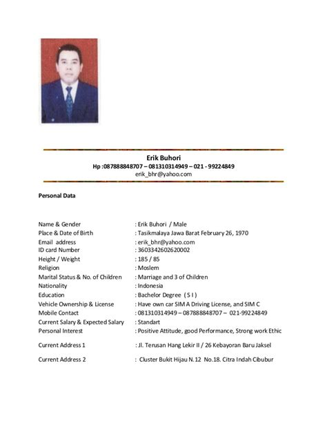 Cv Lamaran Kerja Docx by Marriage Curriculum Vitae Cv Bio Data Cv Template