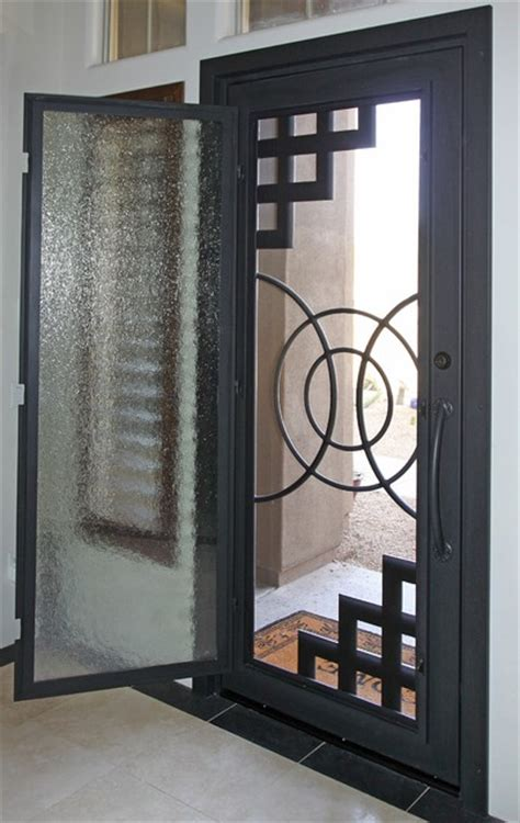 abstract iron entry door by impression security