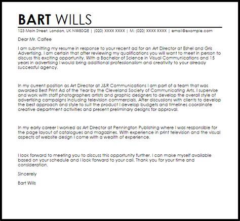 Art Director Cover Letter Sample   LiveCareer