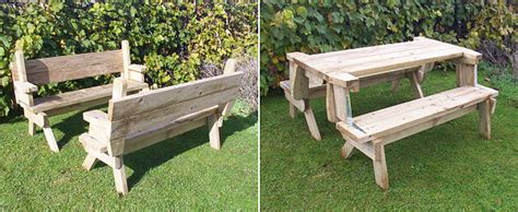 bench folds into picnic table bench converts to picnic table free plans page 1