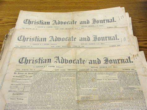 Journal Advocate Records Christman Archives Treasures Fall 2011