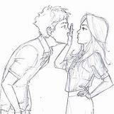 Kissing Couple Sketch   500 x 500 jpeg 49kB