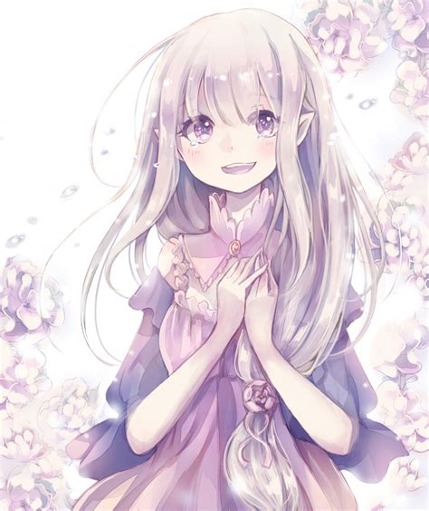 Kaos Anime Re Zero Kara Emilia emilia re zero re zero kara hajimeru isekai seikatsu image 2166019 zerochan anime image