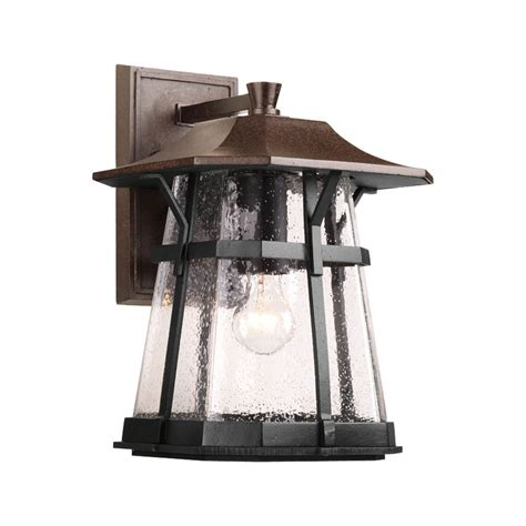 Progress Landscape Lighting Progress Outdoor Wall Light With Clear Glass In Espresso Finish P5751 84 Destination Lighting