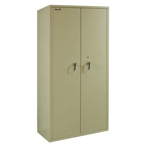 FireKing Used 72 Inch Fireproof Storage Cabinet, Putty