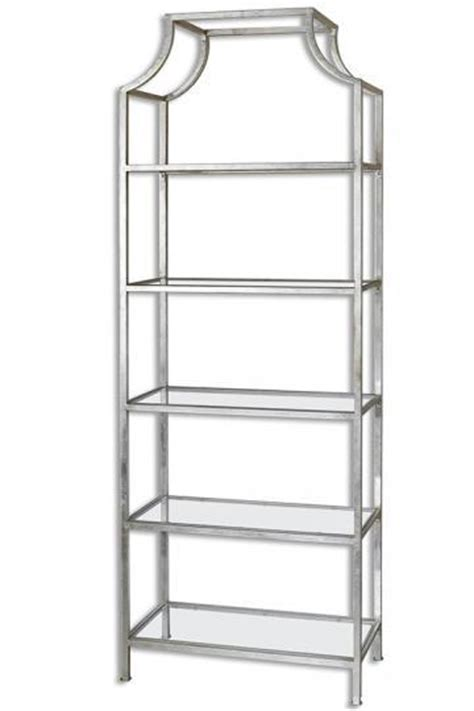 stainless steel 5 black glass shelves flight bookshelf