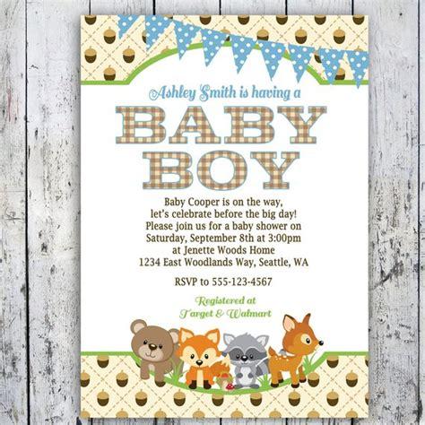 Woodland Baby Shower Invitations Boy Woodlands Invite Woodland Invitation Template