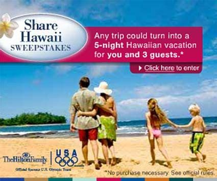 Hilton Hawaii Sweepstakes - hilton s share hawaii sweepstakes rapidsea