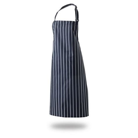 Stripe Apron bib apron 36 quot x 40 quot cotton blue white butchers stripe self