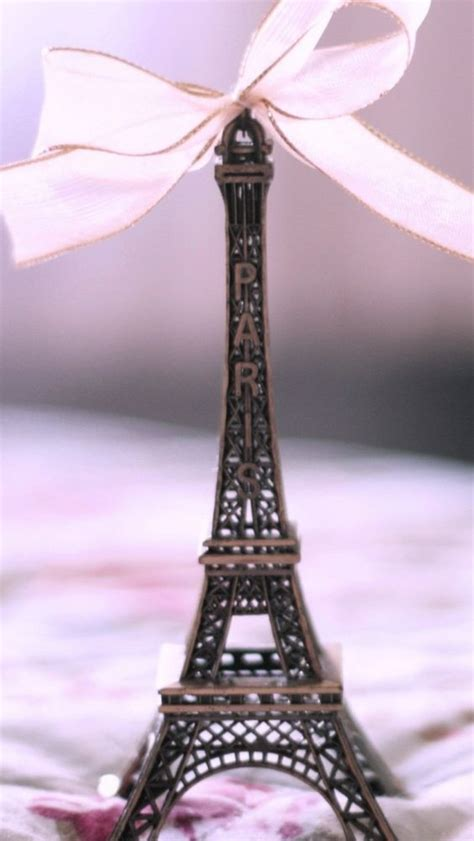wallpaper paris girly eiffel tower white ribbon wallpaper iphone android