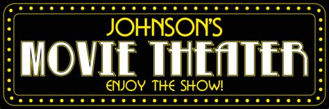 personalized  theater metal sign large