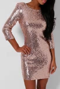 Ellie rose gold sequin mini dress pink boutique