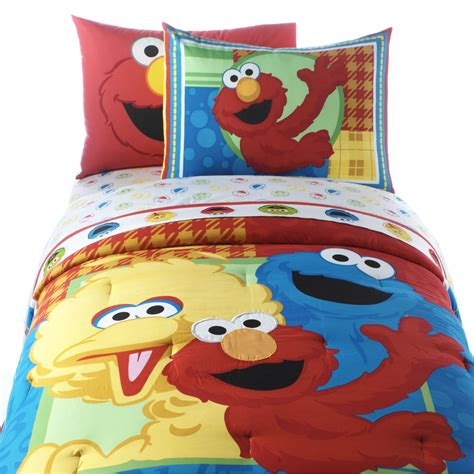 sesame street comforter set twin sesame street elmo and friends twin comforter with sham