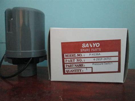 Saklar Otomatis Pompa Air Sanyo pressure switch pompa air sanyo p h136a toko cita media