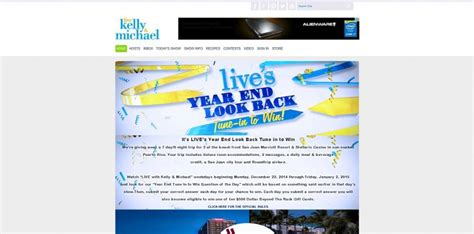 Live With Kelly And Michael Sweepstakes - live s year end look back tune in to win sweepstakes