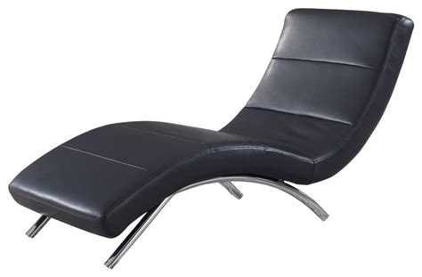 black leather chaise lounge chair global furniture usa r820 leather chaise lounge in black