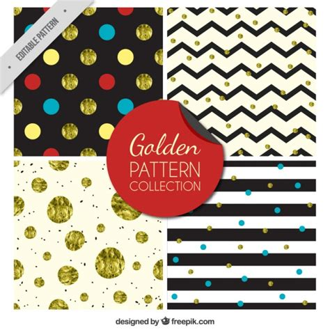 svg pattern collection golden pattern collection vector free download