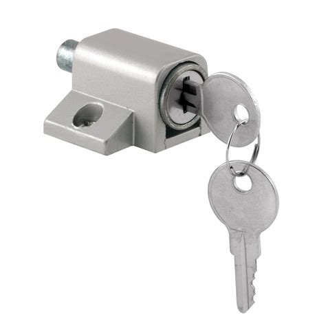 shop gatehouse push in keyed sliding patio door cylinder lock at lowes