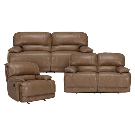 Vinyl Leather Sofa Benson Dk Taupe Lthr Vinyl Power Reclining Sofa