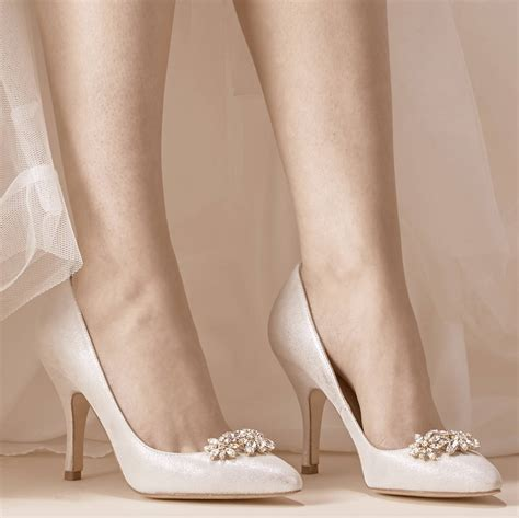 sienna metallic silver suede wedding shoes by rachel