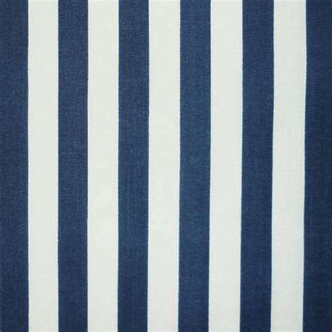 navy blue and white upholstery fabric navy blue white in 3mm and 11mm stripe polycotton fabric