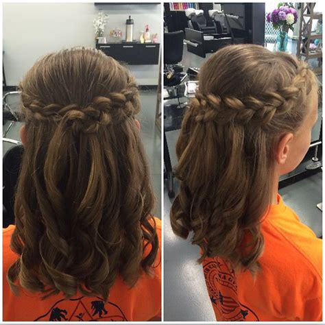 fancy hairstyles for kids kids half up and half down for a wedding balayage