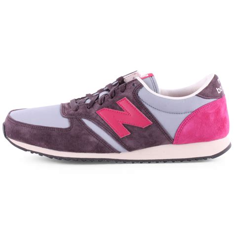new balance u 420 womens suede textile brown pink trainers