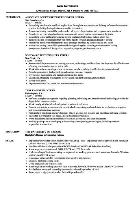 software engineering resume format elegant qtp test engineer sample
