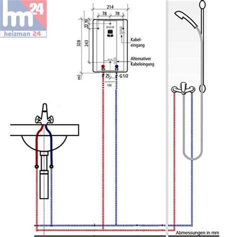 durchlauferhitzer im bad clage cbx 13 durchlauferhitzer 13 5 kw 400 v 2400 25213