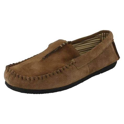 moccasin style slippers clarks mens moccasin style slippers kite driver ebay