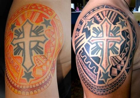 filipino cross tattoo images designs