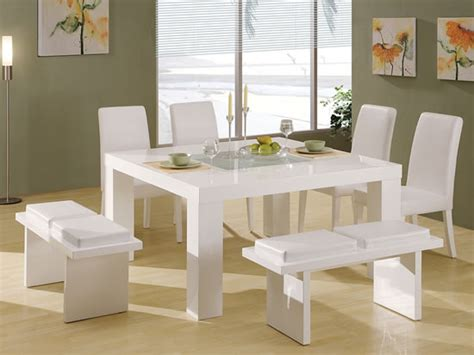 white dining room table and chairs set farmhouse decor